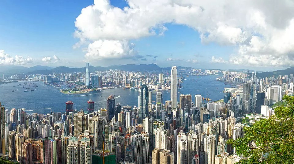 Day view of Hong Kong from Victoria Peak.