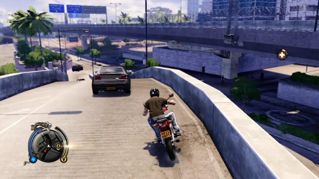 Sleeping Dogs Motorcycle Riding Screenshot.