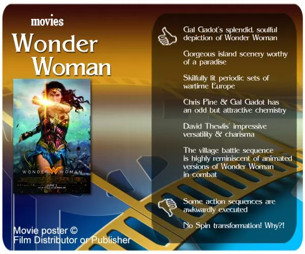 Wonder Woman (2017 film) review - 6 thumbs up and 2 thumbs down.