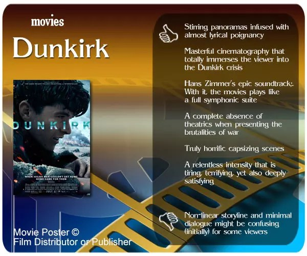 Dunkirk (2017) review - 6 thumbs up and 1 thumbs down.