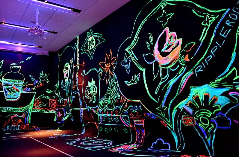 Peranakan Museum, Glow in the Dark Mural.