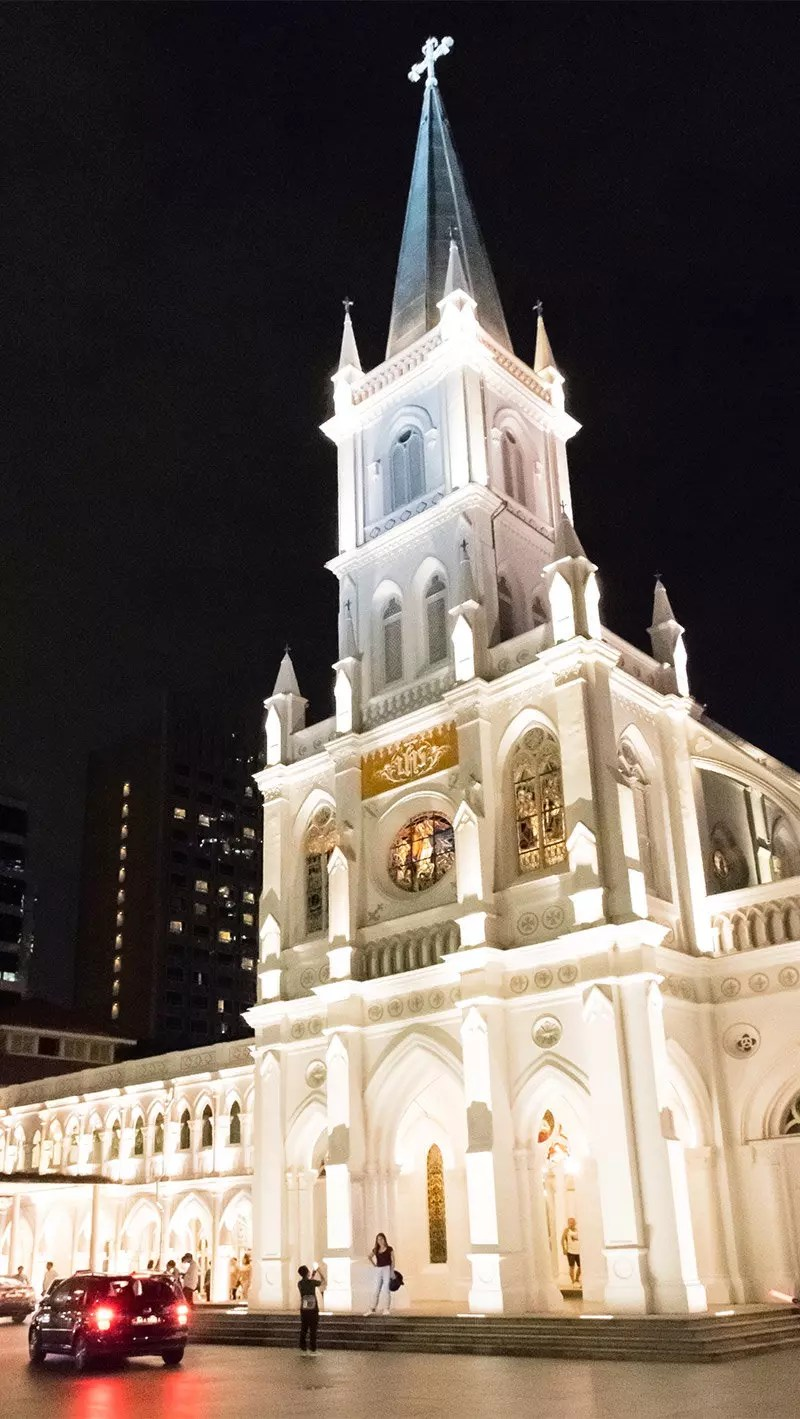 CHIJMES Singapore at evening.