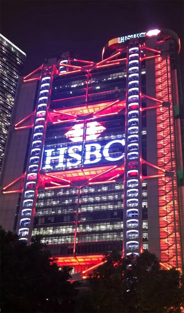 Hong Kong HSBC Building Night Shot