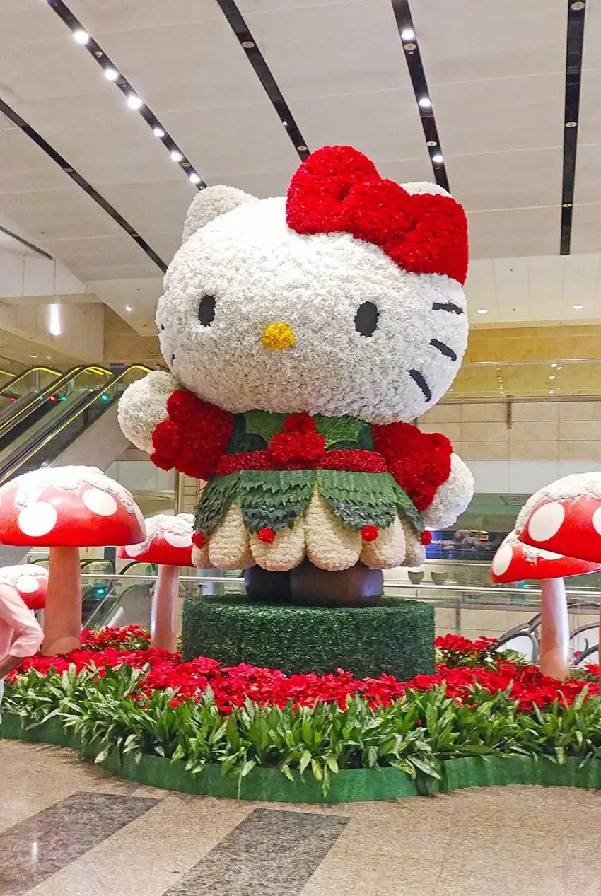 Hello Kitty Christmas Display at Changi Airport Terminal 2.