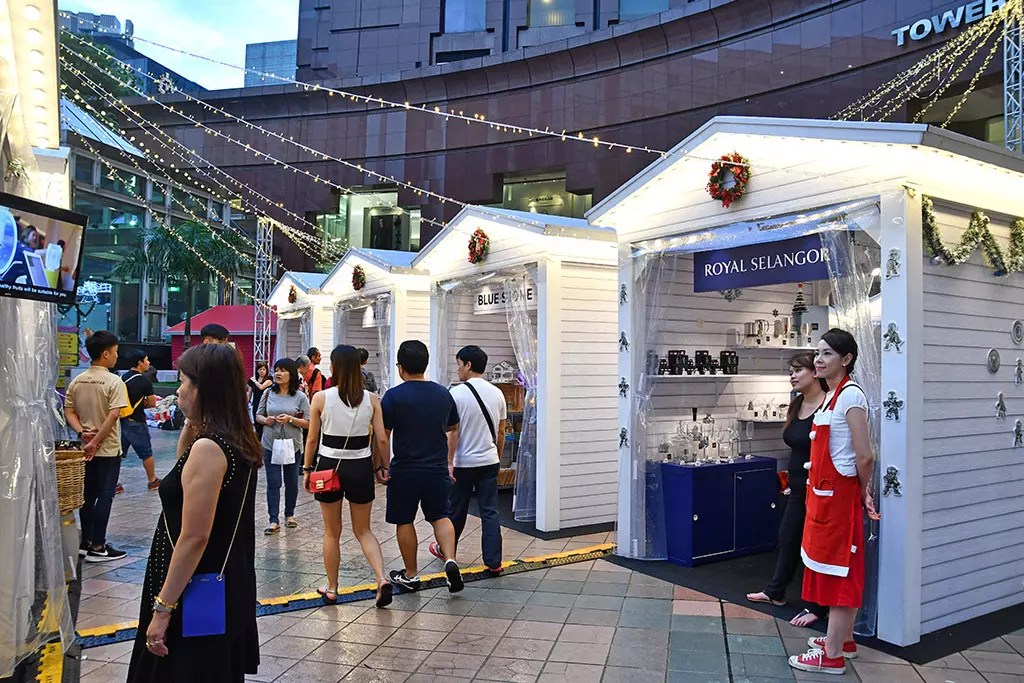 Orchard Road's First Christmas Village