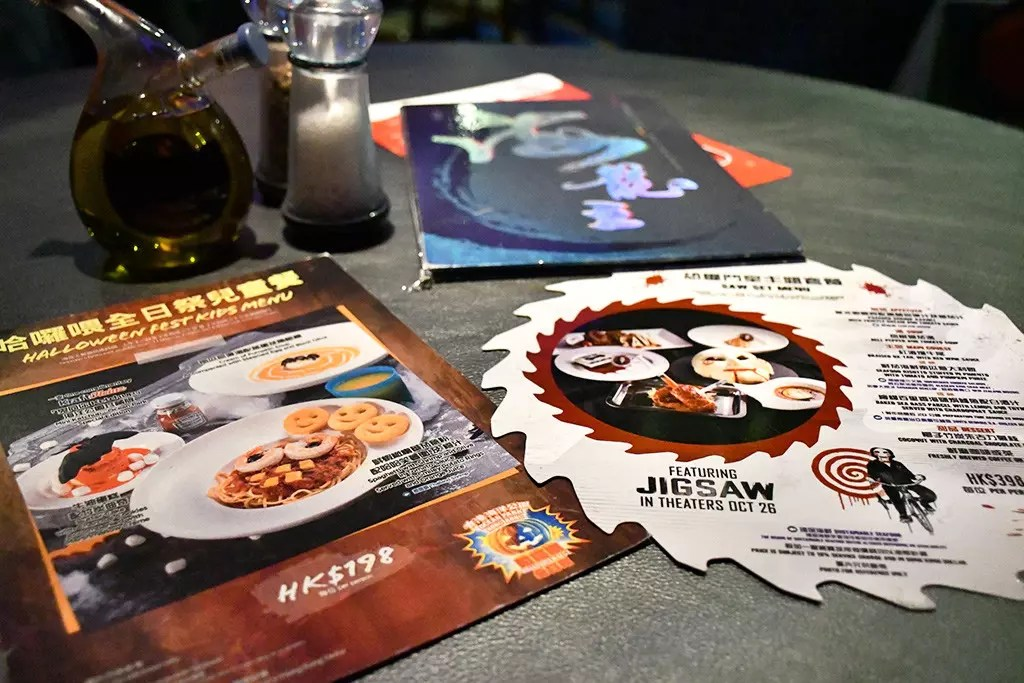 Ocean Park Halloween Fest 2017 festive menus .