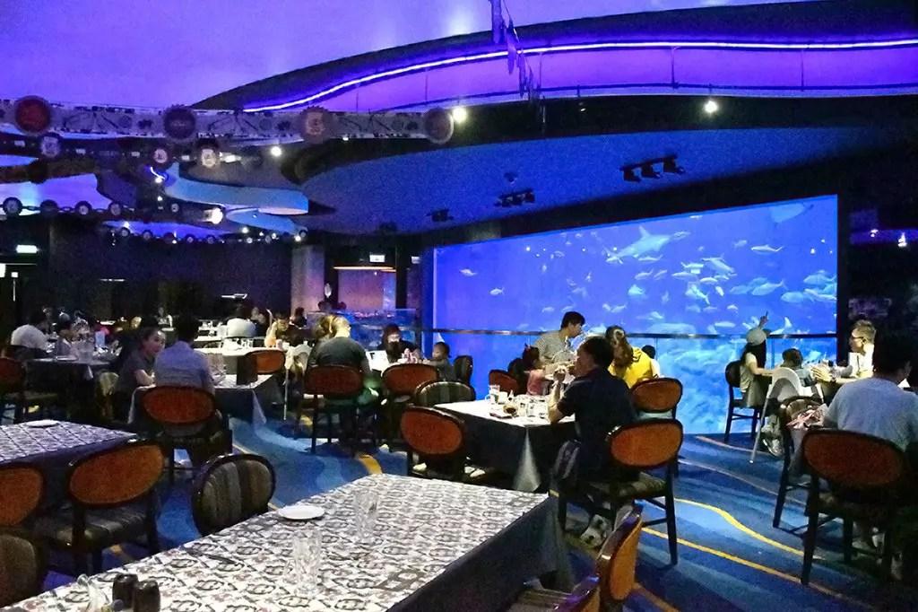 Interior of Neptune's Restaurant, Ocean Park Hong Kong