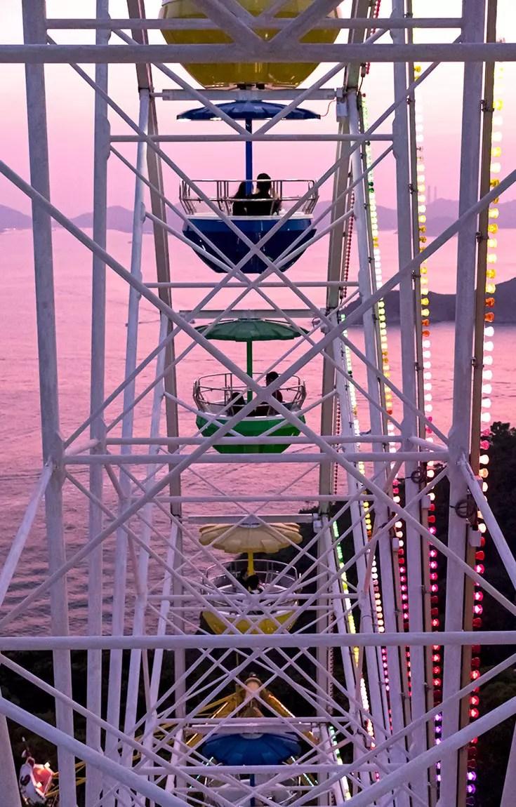 Ocean Park Hong Kong - Marine World Ferris Wheel.