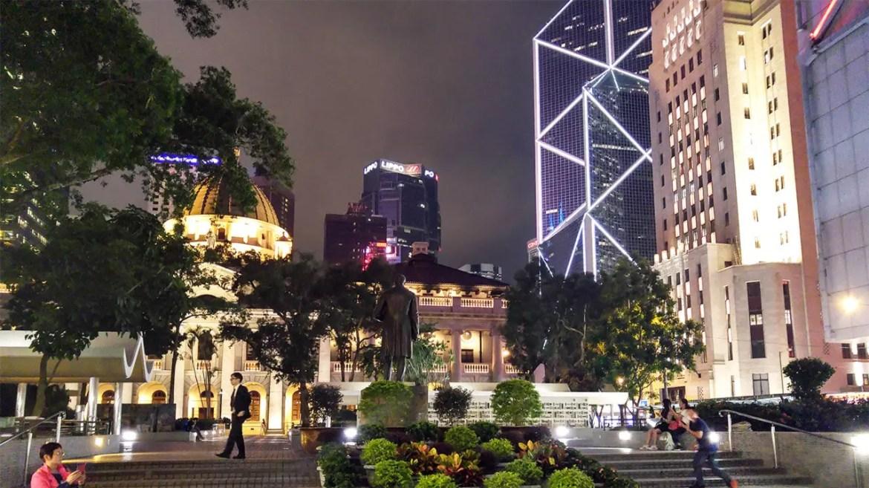 Sleeping Dogs Hong Kong Exploration - Statue Square at Night.