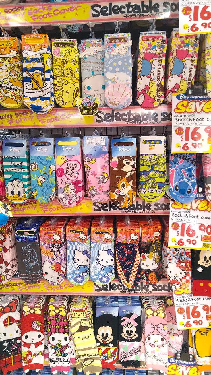 Don Don Donki Singapore - Don Quijote socks