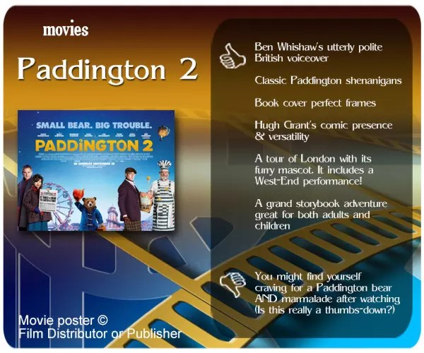 Paddington 2 review - 6 thumbs up and 1 thumbs down.