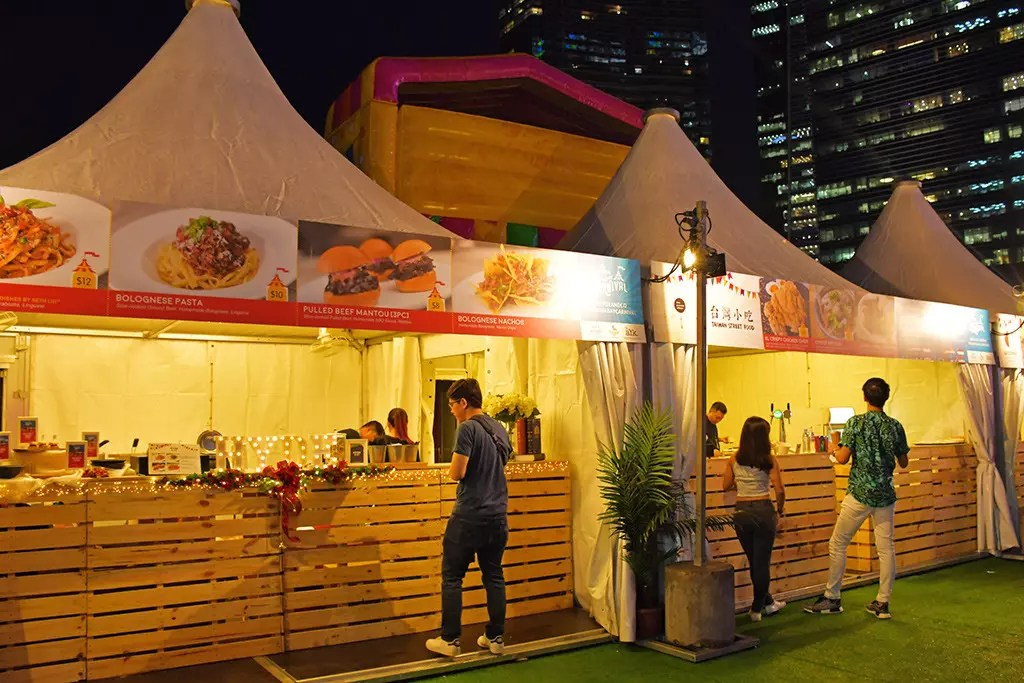 Prudential Marina Bay Carnival Food Stalls.