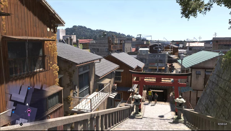 Ryū ga Gotoku 6 Screenshot - Temple Slope