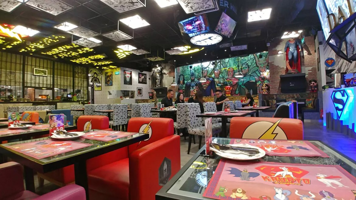 DC Super Heroes Cafe - Ngee Ann City.