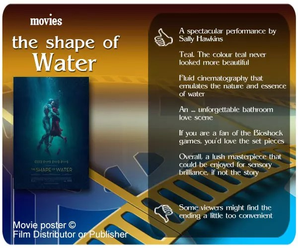 The Shape of Water review - 6 thumbs up and 1 thumbs down.