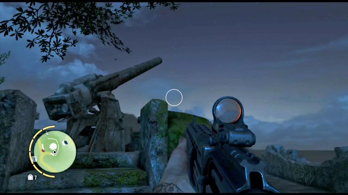 Far Cry 3 Hilltop WWII Gun Turret.