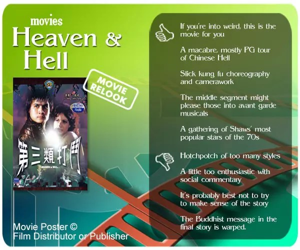 Shaw Brothers' Heaven and Hell (第三类打斗) review - 5 thumbs up and 4 thumbs down.