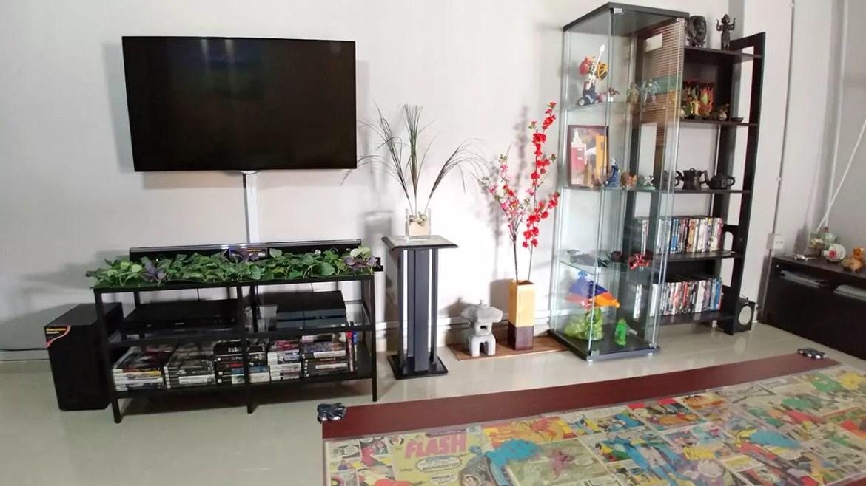 Geeky HDB 3-Room Living Room.