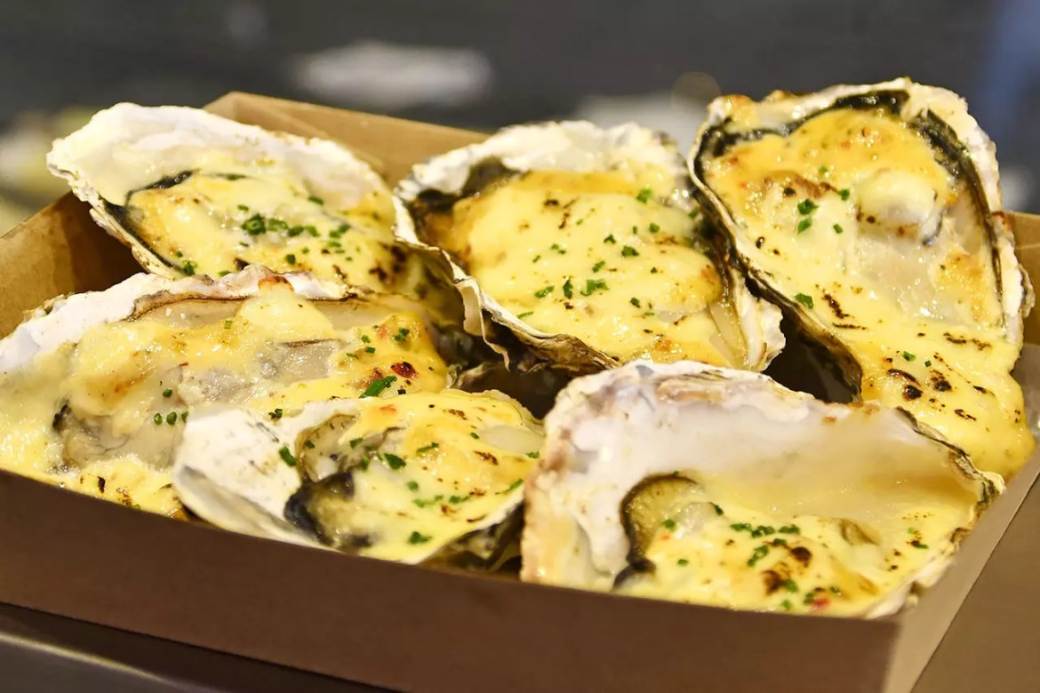 Grilled Hyogo Oysters by Angliss Singapore.