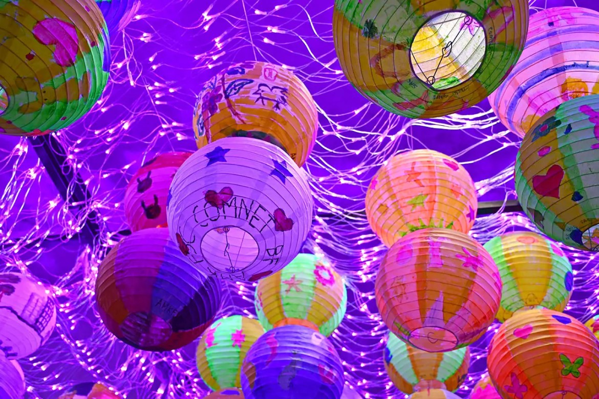 Hand-painted lanterns at Gardens by the Bay