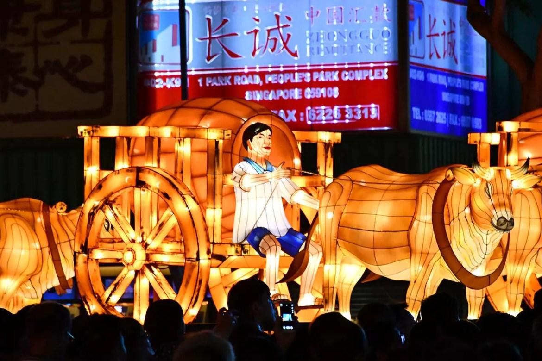 Chinatown Mid-Autumn Decorations 2018 - Bullock Cart