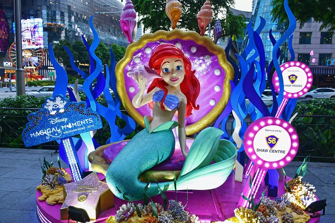 The Little Mermaid at Orchard Road, Singapore.