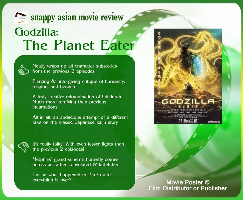 Godzilla: The Planet Eater Review: 4 thumbs up & 3 thumbs down.