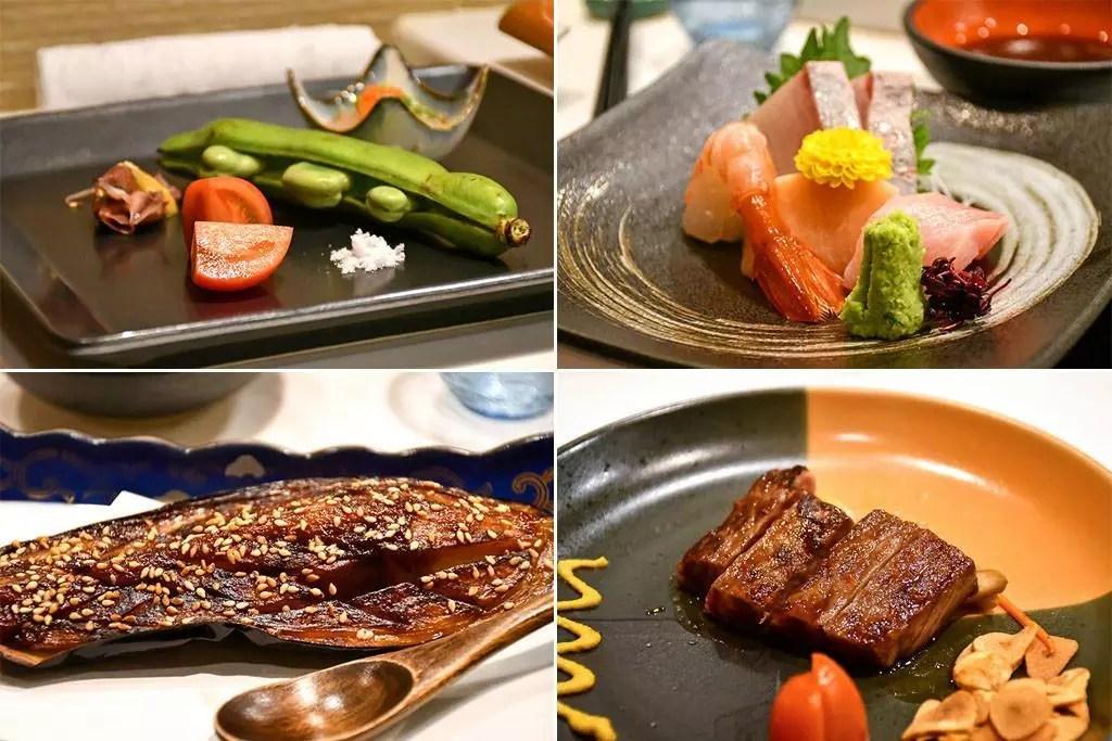 Shinzo Japanese Cuisine Omakase Dinner.
