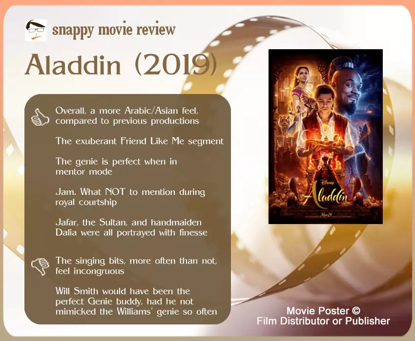 Aladdin (2019) Movie Review: 5 thumbs-up and 2 thumbs-down