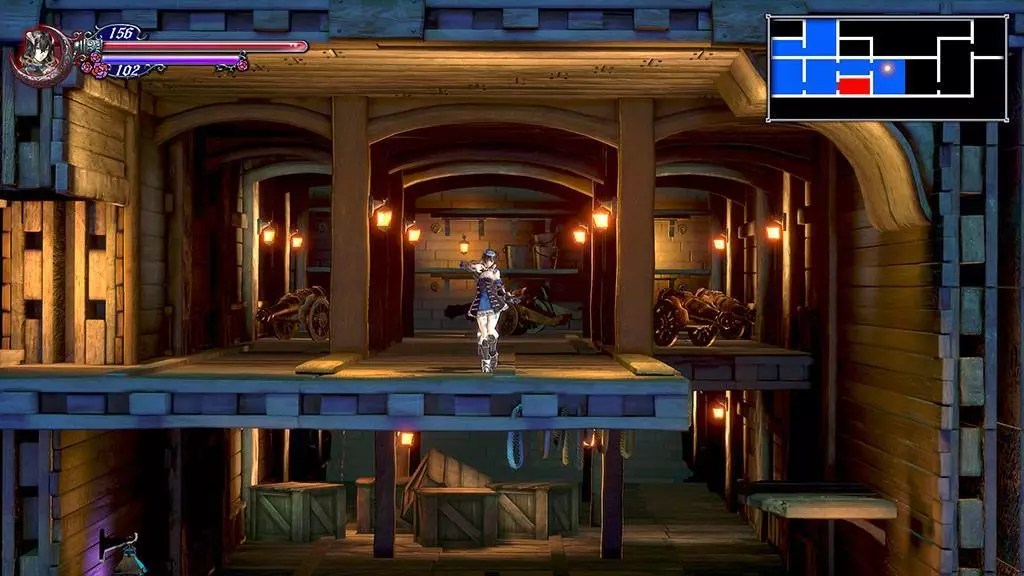 Bloodstained: Ritual of the Night Opening Stage.