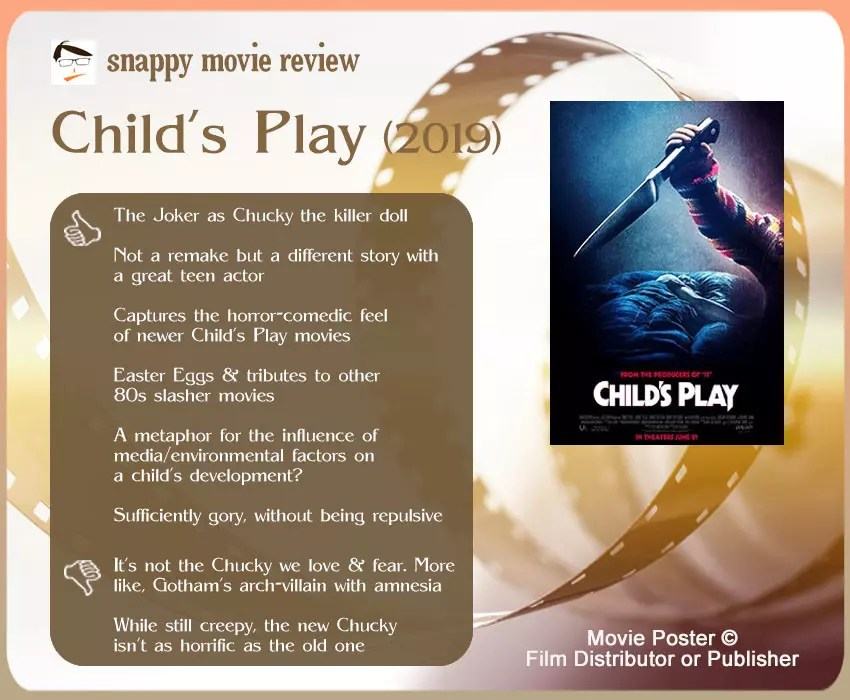 Child's Play (2019) Movie Review: 6 thumbs-up and 2 thumbs-down.