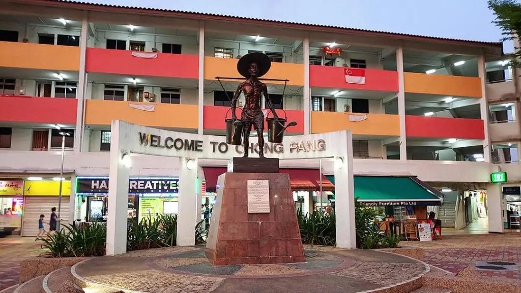 Chong Pang Village Statue.