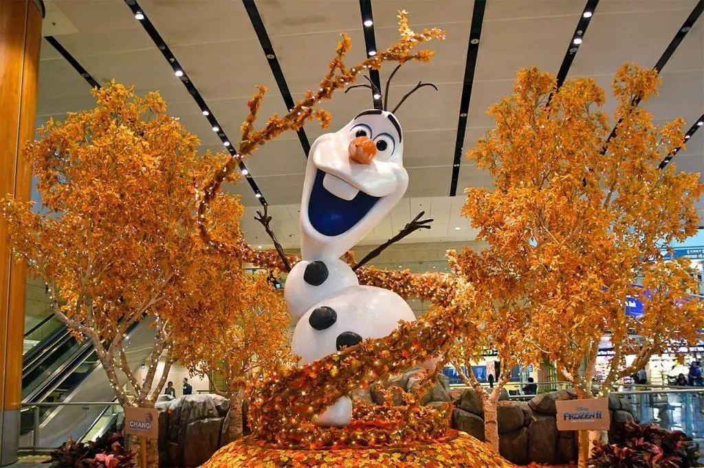 Olaf at Changi Airport Terminal 2