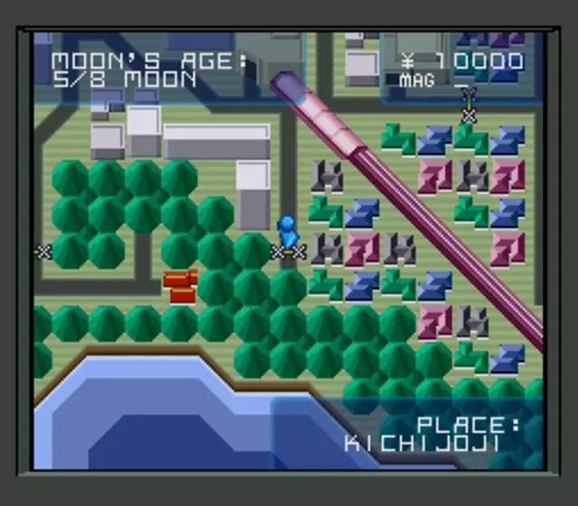 Shin Megami Tensei 1 Kichijoji Map