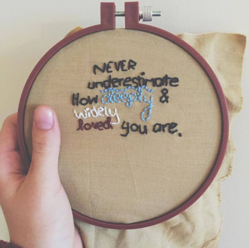 I sewed this for my mum's birthday.