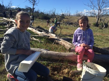 Students from local schools planting trees at Camp Cooba