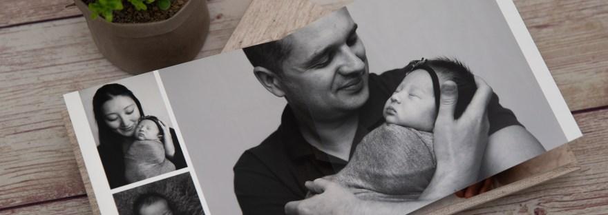 Newborn and Mum and Dad Family Album