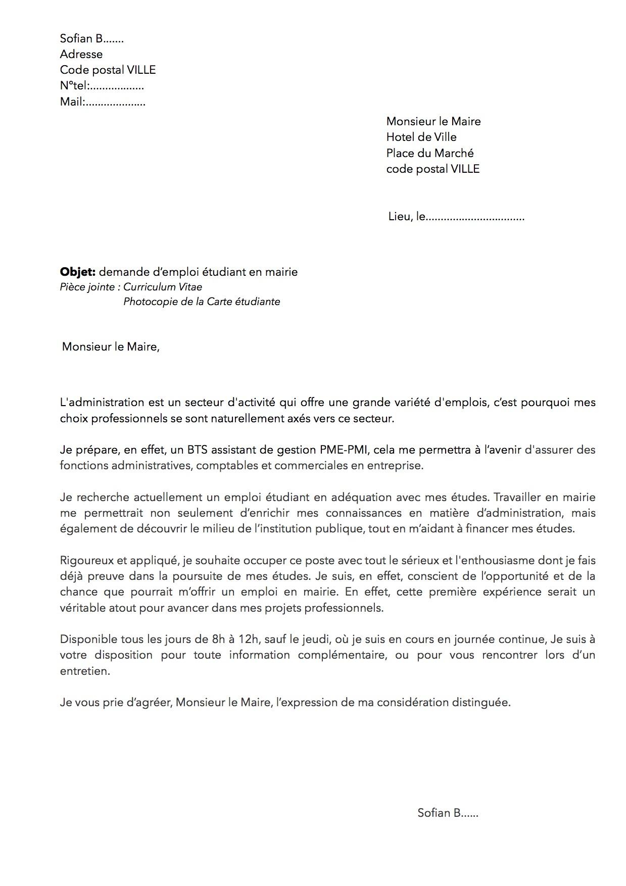 lettre de motivation admission post bac