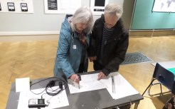 Visitors playing with the Drawdio