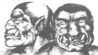 Moultcros - L'Ogre bicéphale originaire de la forêtde Mold