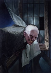 The Croglin Vampire painted by Les Edwards