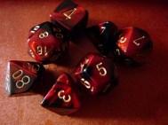 Set de dés rouges