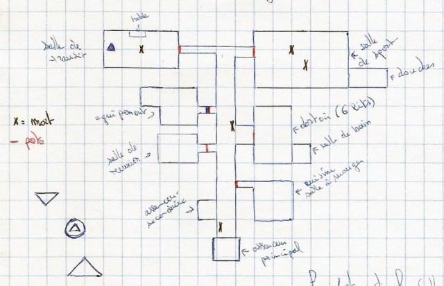 """Une carte pour jeu de rôle MeGa 2 - Scenario """"Pheria-III"""" - 1988"""
