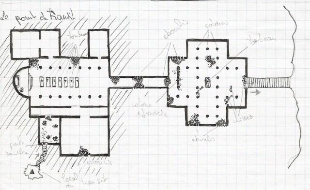 """Une carte pour jeu de rôle MeGa 2 - Scenario """"La Mort Rode"""" - 1988"""