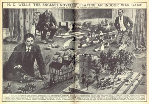 HG Wells et les règles de jeu du wargame. Voilà qui aide pour une définition de la naissance du JDR