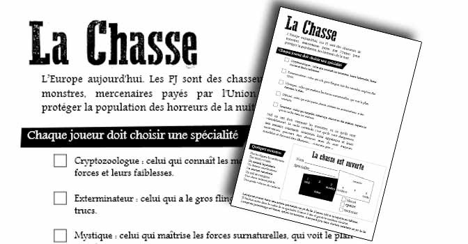 La Chasse JdR