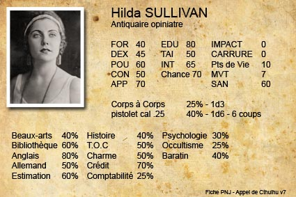 Fiche de PNJ AdC v7 - Hilda Sullivan - Antiquaire
