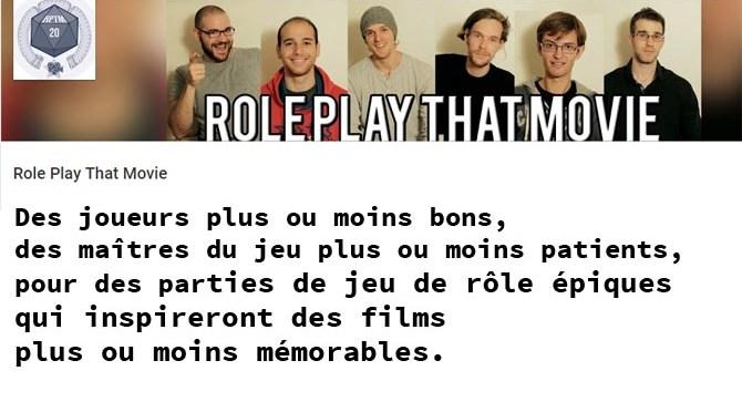 Role Play That Movie – Les parties de jeux de rôle qui ont inspiré des films célèbres… ou pas