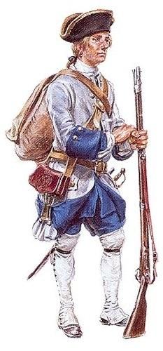 un soldat des Compagnies Franches de la Marine du Canada