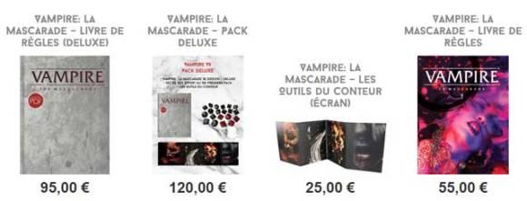Vampire La Mascarade 5e, la précommande
